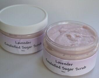 Emulsifying Sugar Scrub- Lavender