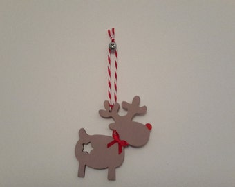 Christmas tree decoration, reindeer, rudolph, Christmas 2015, 1st Christmas