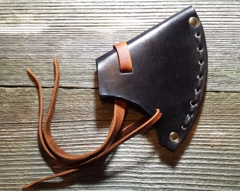 Plain Leather Throwing Ax Sheath