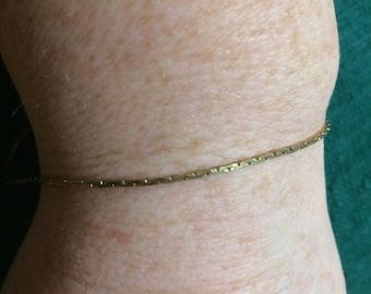 Vintage Goldtone Chain Bracelet, 8'' Long