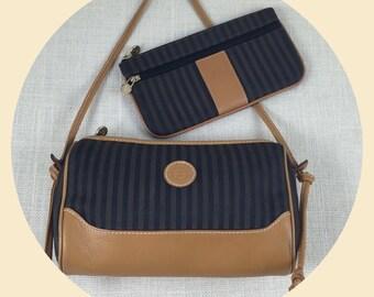 SALE! Authentic Fendi Vintage Shoulder Bag & Wallet Coin Purse Late 1970s Fendi Handbag Fendi Shoulder Fendi Wallet