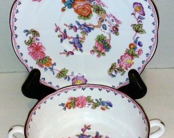 Spode Bouillon Bowl with Plate