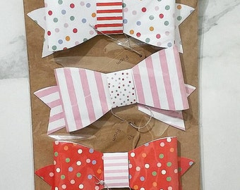 Toot sweet gift bows XL pk 4
