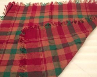 Vintage wool scarf, shawl.