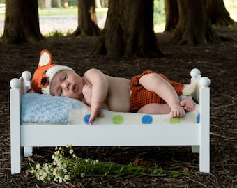 Baby Fox Costume - Halloween Costumes For Infants - Woodland Nursery - Fox Tail Costume - Newborn Boy Outfits Or Girl - Coming Home Outfit