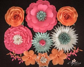 Paper Flower Backdrop, Paper Flower Centerpiece, Large Paper Flowers
