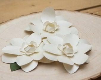 paper gardenias, paper flowers, wedding paper flowers, paper flower decorations, paper flower decor,  handmade paper flower
