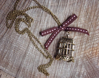 Bird Cage Necklace ~1 pieces #100442