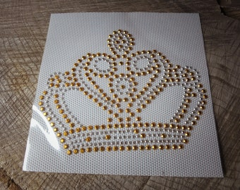 Crown Iron On Applique ~1 pieces #100562