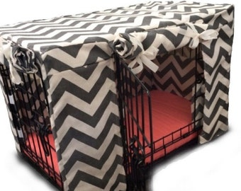 Customized Dog Crate Cover Two Door
