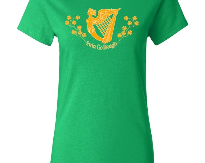 St. Patrick's Day T-shirt - Erin Go Bragh - Ireland Forever - Irish Womens T-shirt