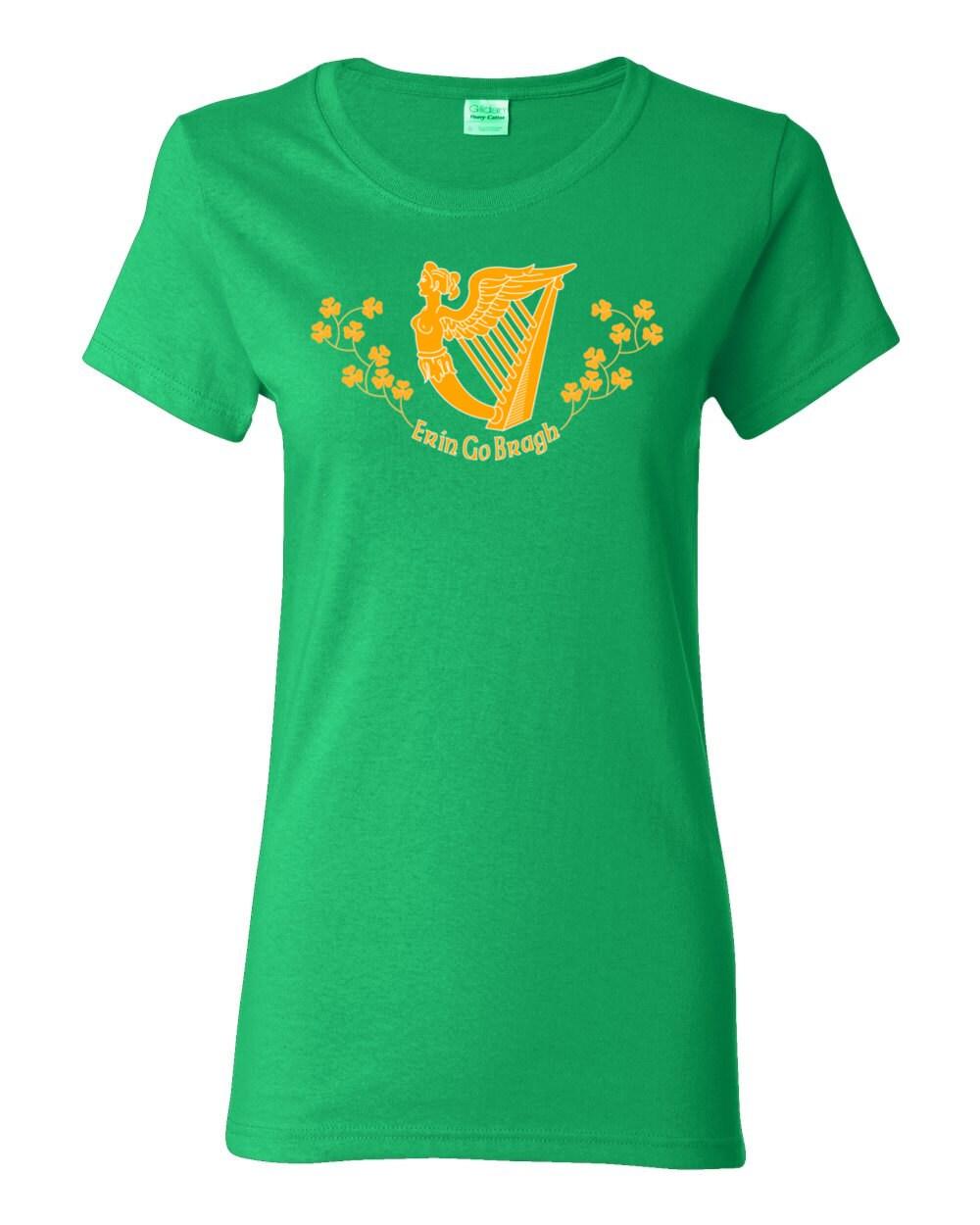 St. Patrick's Day T-shirt - Erin Go Bragh - Ireland Forever - Irish Womens T-shirt