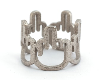Middle Finger Ring - Silver Steel