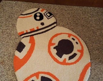 "BB-8 Handmade rug- 30""x 22"""