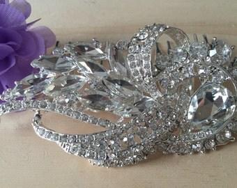 Wedding Comb, Bridal Comb, Bridal Rhinestone Comb, Crystal Vintage Comb, Swarovski Comb, Bridal Crystal Comb, Bridal Hair Comb,