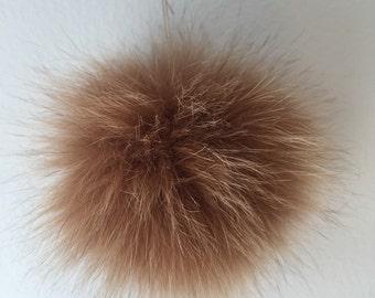 Pom pom Canadian removable fox fur (recycled )