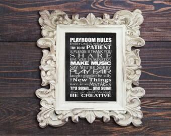 Custom Playroom Rules Print- Jenny