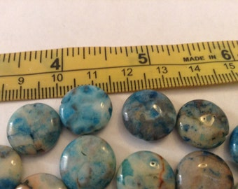 Blue crazy lace agate beads
