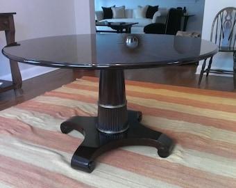 Thomas Pheasant Round Dining Table with single column pedestal