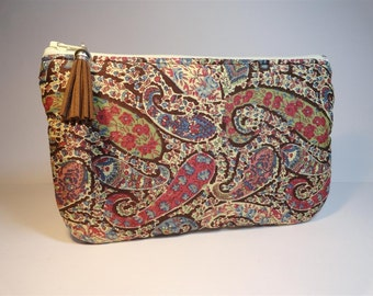 Kit fabric flat pouch Liberty Paisley