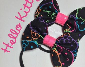 RTS Neon Hello Kitty nylon headband