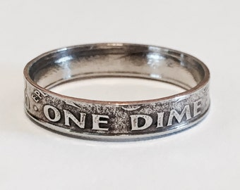Ring is made from a DIME