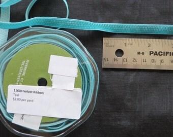 Velvet Ribbon Teal 1169B