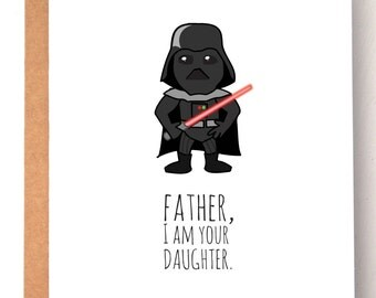 Father's Day Card, Funny Fathers day card, Star wars card, Darth Vader card, Dad Card, Cards for dad, birthday cards for him, birthday card