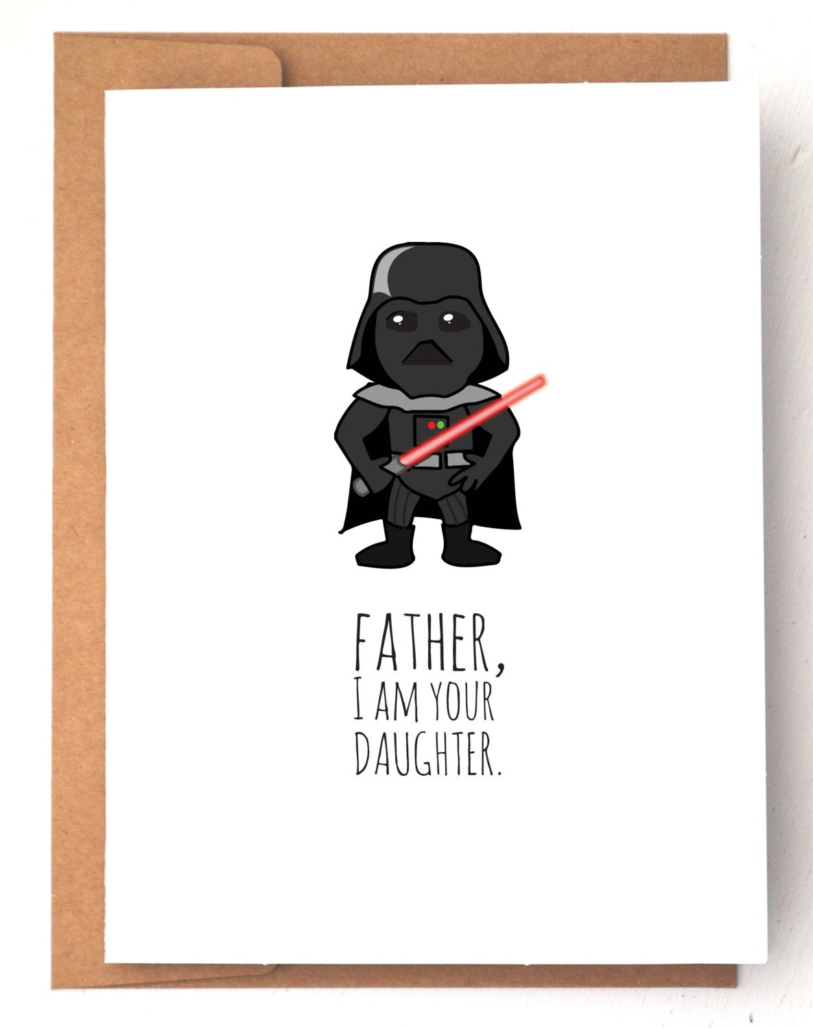 Fathers Day Card Star wars card Darth Vader card Dad – Birthday Cards Father