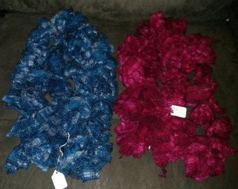 Ruffle fabric scarves