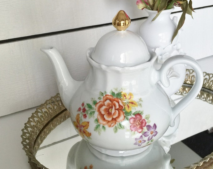 Vintage China Teapot, Bareuther Waldsassen Tea Pot, China Teapot, Collectible Teapot, Vintage Teapot