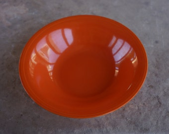 """Vintage Edwin M. Knowles China Co. """"Deanna"""" Beautiful Orange Serving Bowl from the 1940's, Semi Vitreous 32-2"""