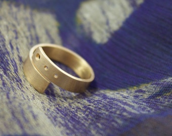 Simple Brass Wrap Ring