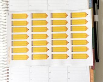 School Pencil Sticker Sheet - S138