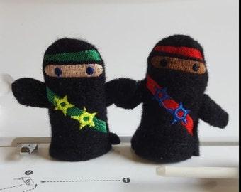 Ninja finger puppets/ Finger puppet/ Thumb war/ Ninja