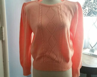 Peachy Keen Sweater -Free Shipping