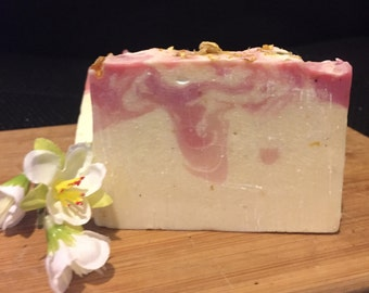 Jasmine Flower Soap. Now made with Goats Milk, Natural, Handmade, Organic