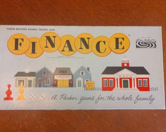 Vintage 'Finance' game from 1958