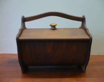 Vintage Wood Sewing Box