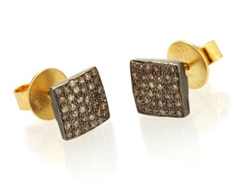 "Earrings ""Black Square"""