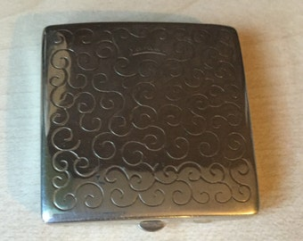 Yardley silver compact