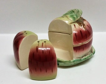 Vintage Apple Condiment Set