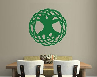 Celtic Tree of Life Green Wall Decal