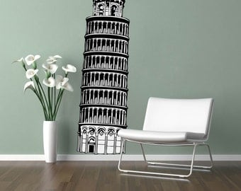 Leaning Tower of Pisa Wall Decal