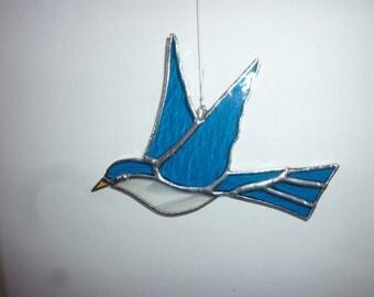 Swallow bird stained glass suncatcher