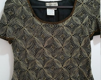 Pap'ell Boutique Evening Blouse. Size M with Spencer Jeremy silk skirt Size 10