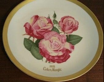 American Rose Society Collector Plate 1978