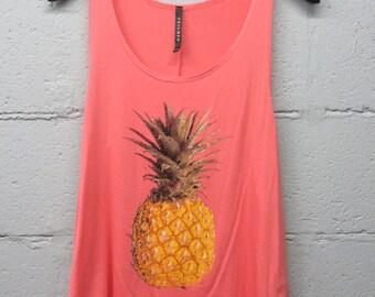 Pineapple tank top (Coral)
