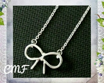 Bow Necklace 925 Sterling Silver Necklace