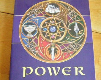 Vintage Elemental Power Celtic Faerie Craft & Druidic Magic Book by Amber Wolfe 1996